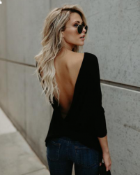 Back Loose Tops Casual Shirt