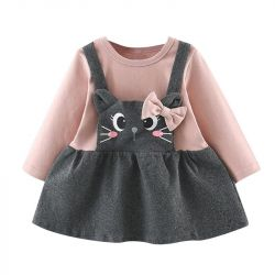 Bow & Cat Design Elegant Dress