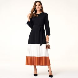Casual Long Pleated Dress