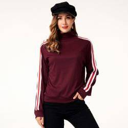 High-Neck Sports Style Pullover