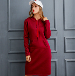 Warm Sweatshirt Long-sleeved Dress